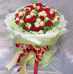 99 mix roses bouquet