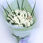 99 white roses bouquet-Say sorry